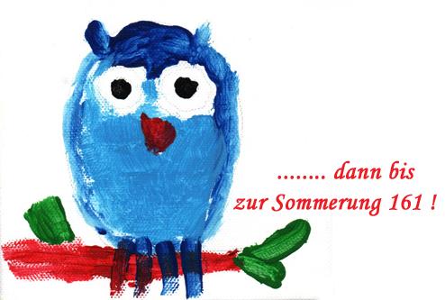 Bild einer gemalten Eule für die Sommerung der Schlaraffia am Hellenstein e.V. in Heidenheim an der Brenz